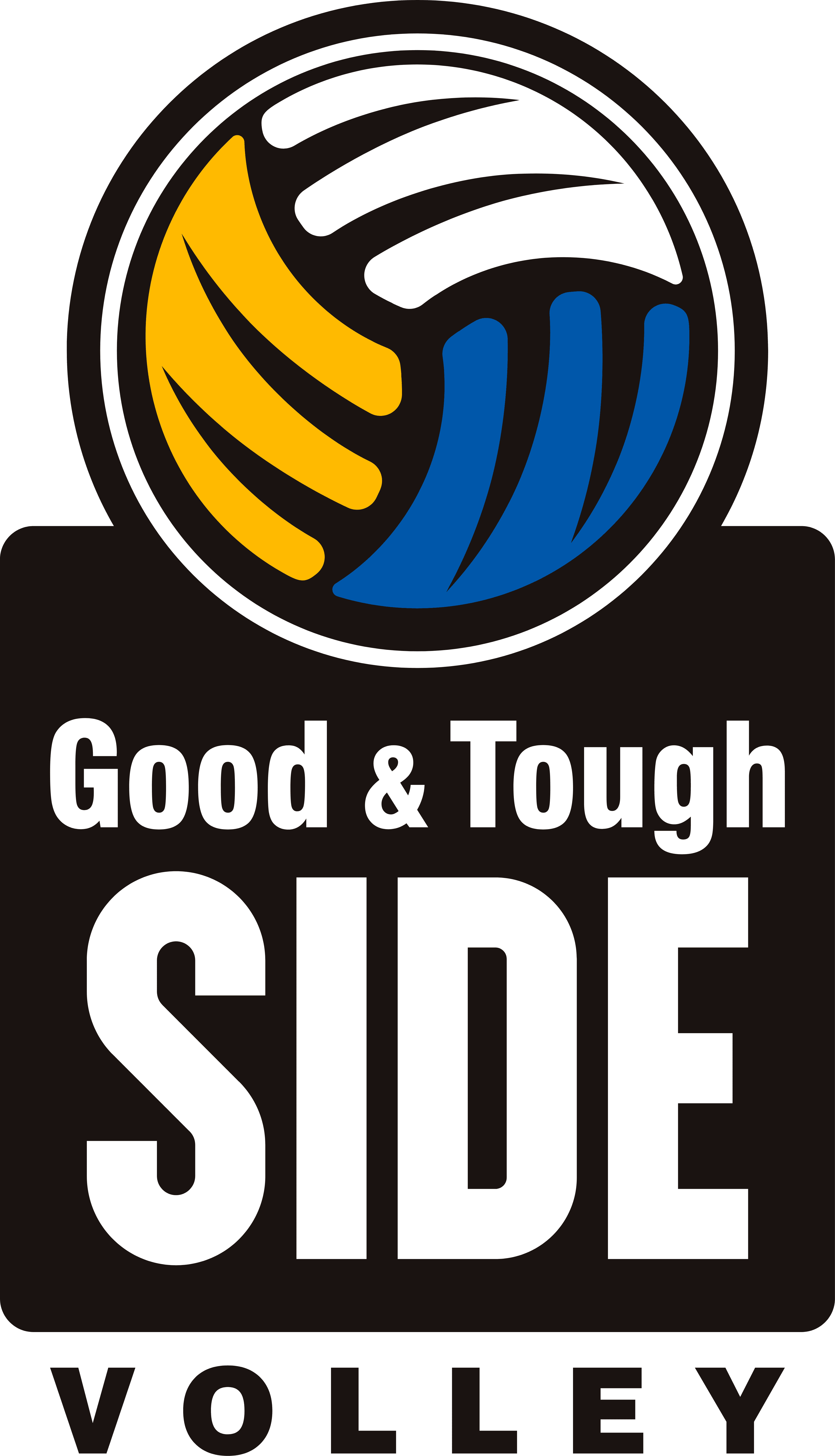 good & tough side of volleryball logo